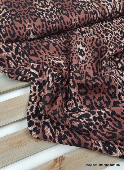 leopard print chocolat - viscose