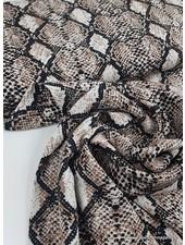 snake print taupe - viscose