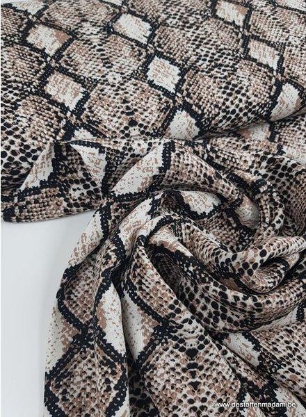 slangenprint taupe - viscose