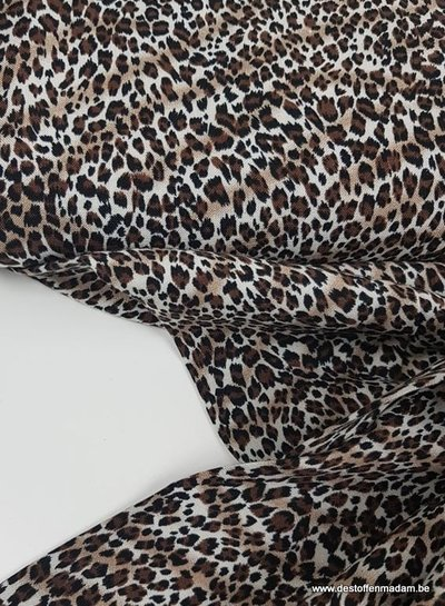 kleine luipaard print - viscose