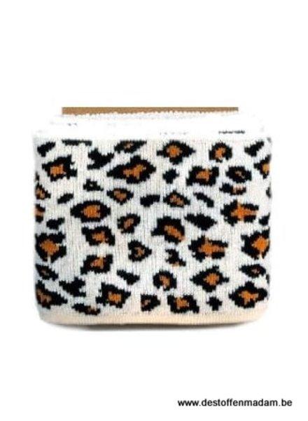 cuff leopard print  - rusty