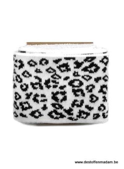 cuff leopard print  - white