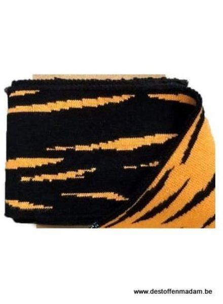 cuff jacquard tiger - zwart