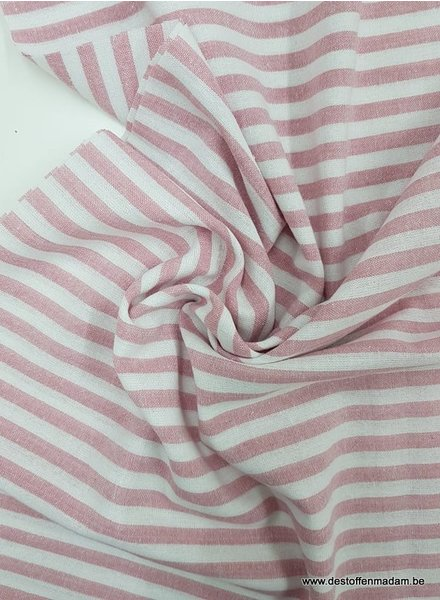 red stripes - washed linnen mix