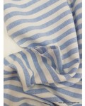 250 cm - light blue stripes - washed linnen mix