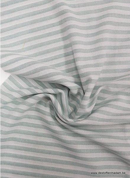 mint stripes - washed linnen mix