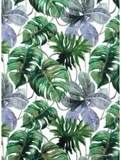 digital print jungle leaves - jersey