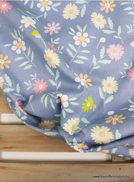 pastelkleurige bloemen - katoen