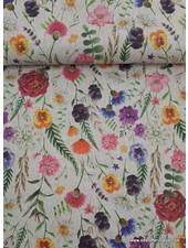 antieke bloemen -  deco stof