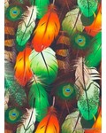 digitale print peacock feathers - jersey