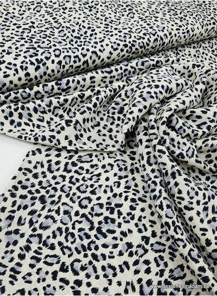 leopard print ecru - viscose