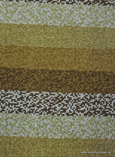 ocre printed stripes - tricot