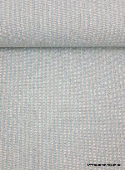 munt streepjes - washed canvas - deco stof