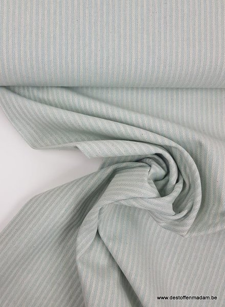 mint stripes - washed canvas