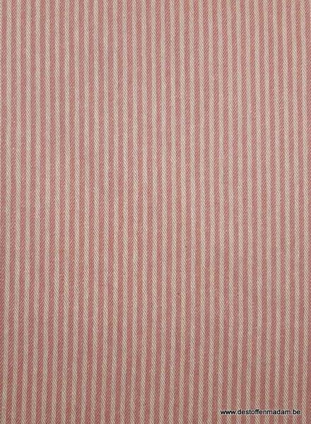 roze streepjes - washed canvas - deco stof