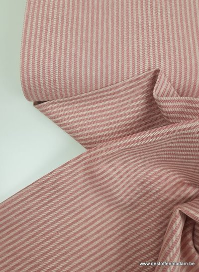 pink stripes - washed canvas