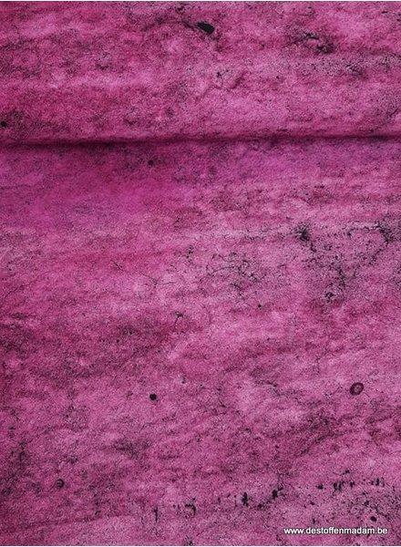 Mr. grey stone fuchsia -  french terry