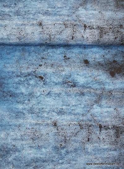 Mr. grey stone light blue -  french terry