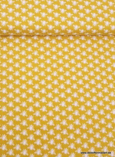 gold meadow honey bee - katoen