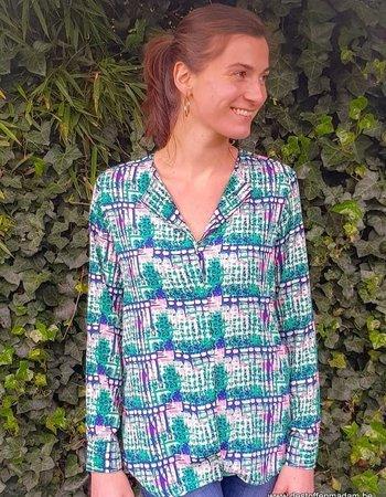 Een Thea hemd in fluo