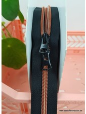 copper - endless zipper with sliders - 1 slider per 50 cm