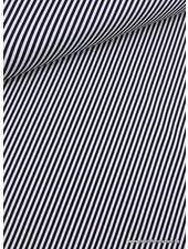 navy simple bias stripes - katoen