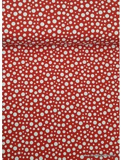 red gnome loppy dots - katoen