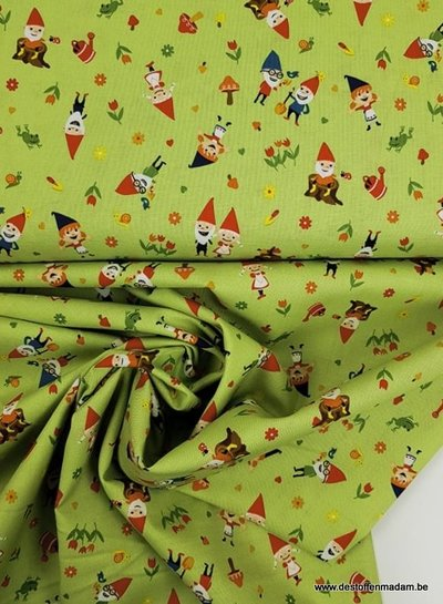 green gnome around - cotton