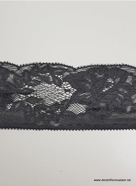 grey non stretch lace - 60 mm