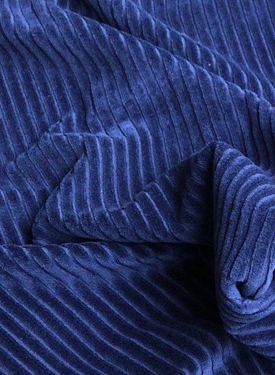 marineblauwe - rekbare corduroy