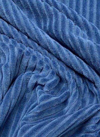 blauwe - rekbare corduroy