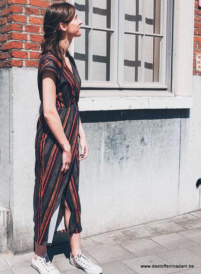 Een gestreepte Vienna jurk
