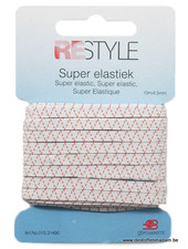 witte super elastiek  - 4,5mm