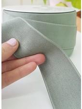 dusty mint shiny - elastic 40mm