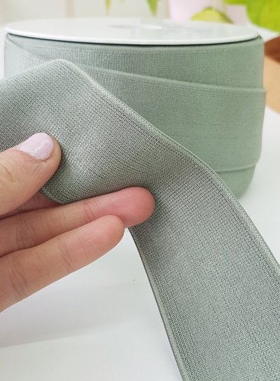dusty mint shiny - elastiek 40mm