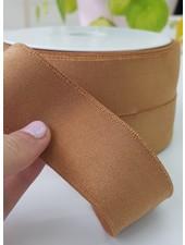 goudbruin shiny - elastiek 40mm