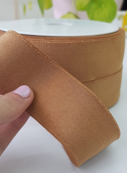 gold brown shiny - elastic 40mm