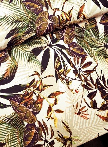 jungle leaves - scuba crepe
