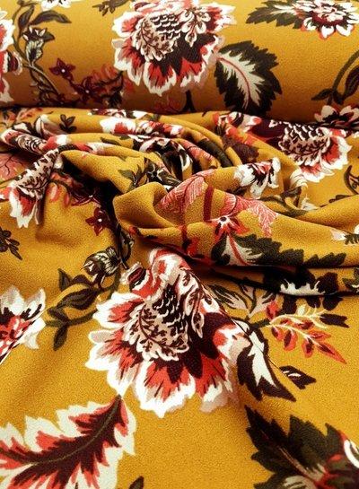 ochre flowers - Scuba crepe