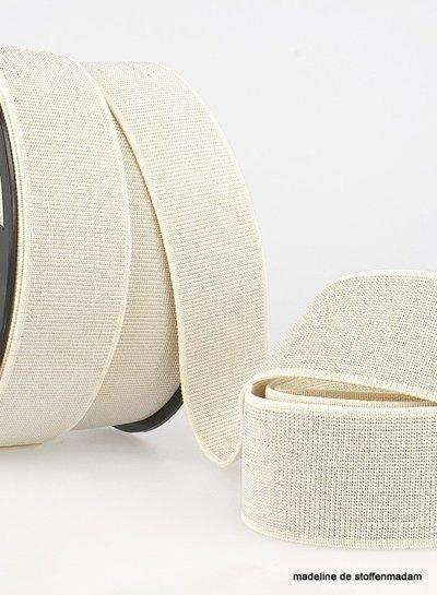 cream silver elastic 40 mm