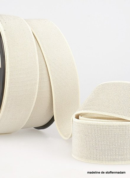 cream silver elastic 40 mm