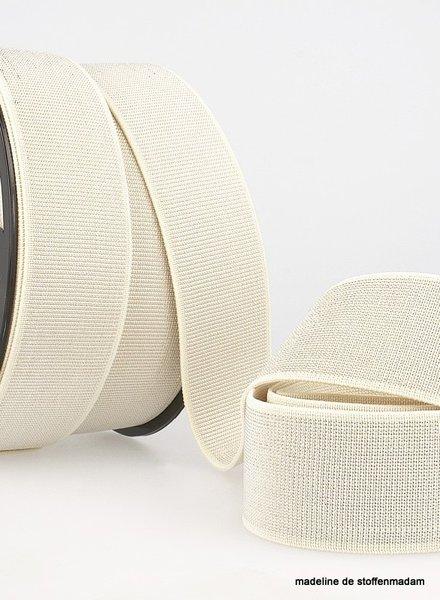 M creme zilver - taille elastiek 40 mm
