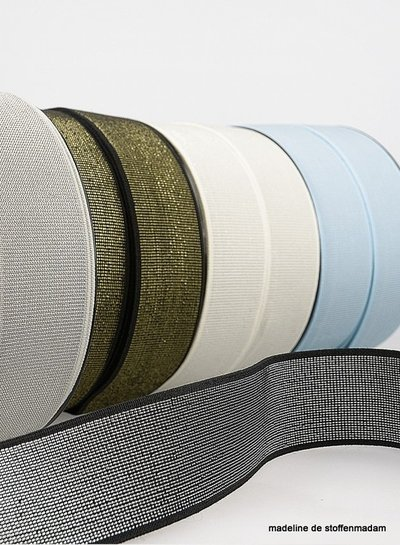 pistache silver elastic 40 mm