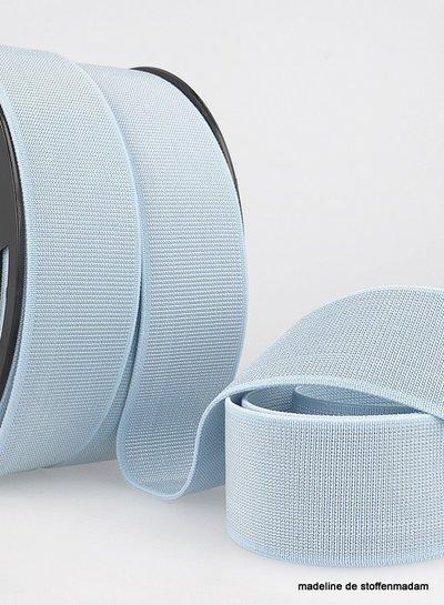 lichtblauw zilver taille elastiek 40 mm