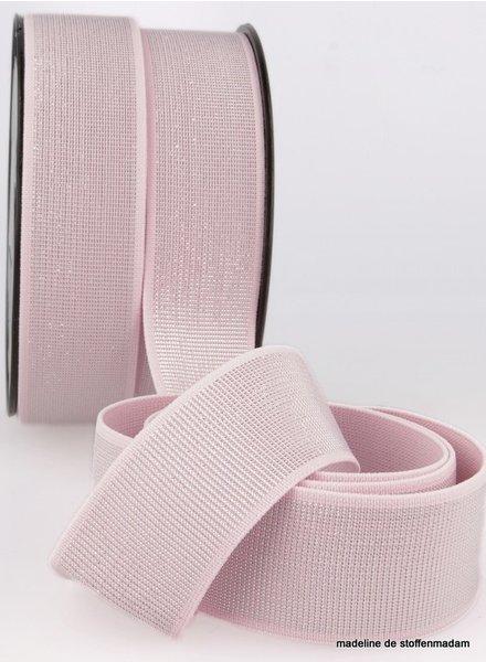 M roze zilver  taille elastiek 40 mm