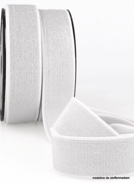 white silver elastic 40 mm