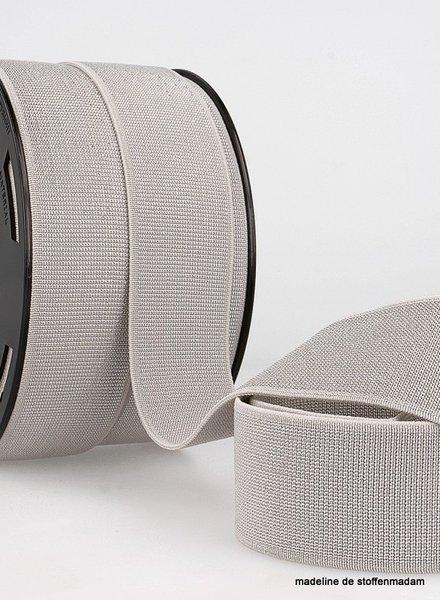 grijs zilver taille elastiek 40 mm