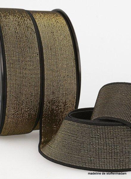 zwart goud taille elastiek 40 mm