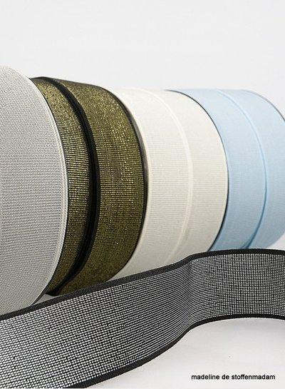 zwart zilver - taille elastiek 40 mm