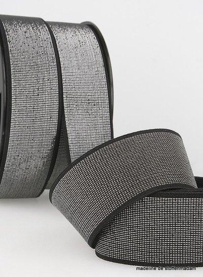 black silver  elastic 40 mm
